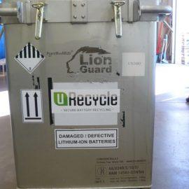 Litiumin kuljetus isommassa astiassa